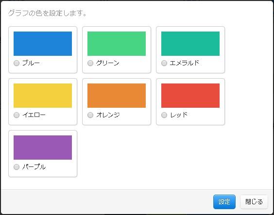 グラフ色指定用モーダル