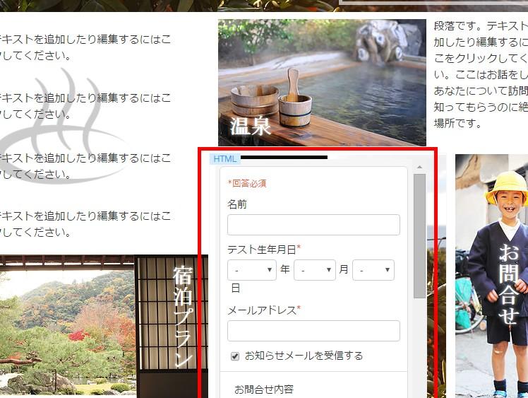 11.フォーム自体をwixのページに埋め込むことも可能です。