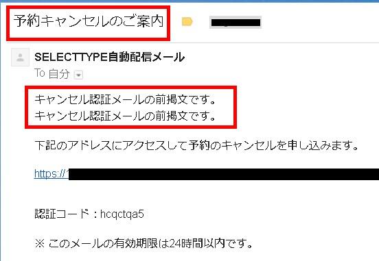 4.認証メールの様子